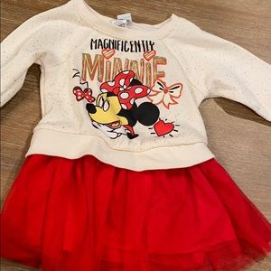 Disney baby Minnie dress with red tutu 24M